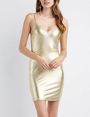 Metallic Bodycon Dress