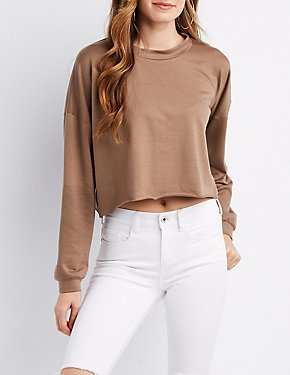 Dolman Mock Neck Crop Top