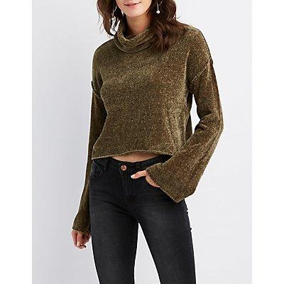 Cowl Neck Crop Sweater