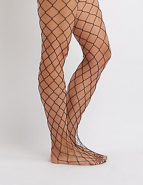 Shimmer Fishnet Tights