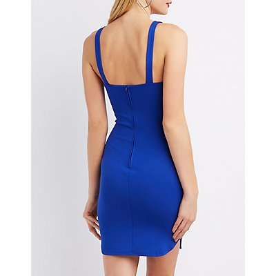 Embellished Cut-Out  Bodycon Dress