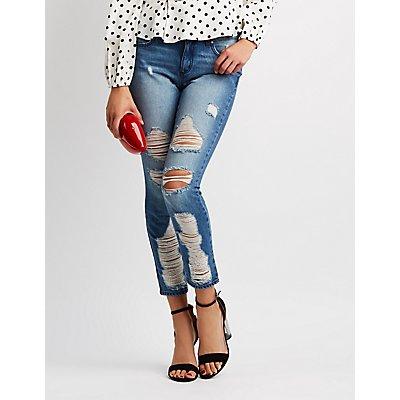 Refuge Ultra Destroyed Skinny Jeans