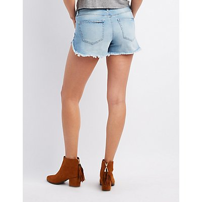 Refuge Destroyed Cut-Off Denim Shorts