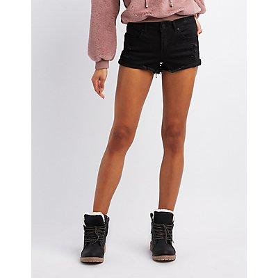 Refuge Mid-Rise Denim Shorts