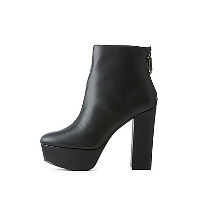 Qupid Platform Ankle Booties
