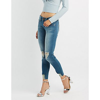 Destroyed Push Up Skinny Jeans