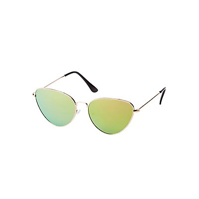 Small Metal Cateye Sunglasses