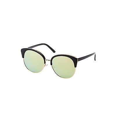 Oversized Round Frame Sunglasses