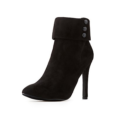 Faux Suede Stiletto Booties