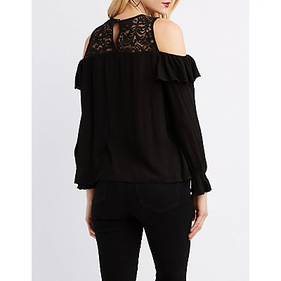Ruddle Layered Cold Shoulder Top