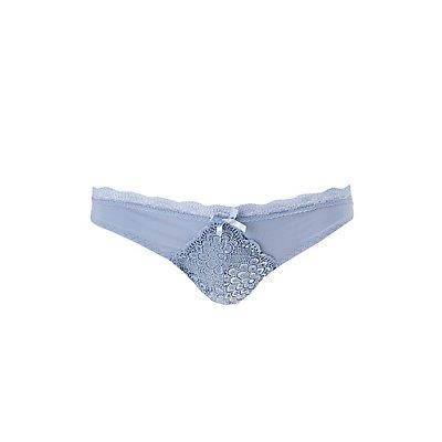Lace-Trim Thong Panties
