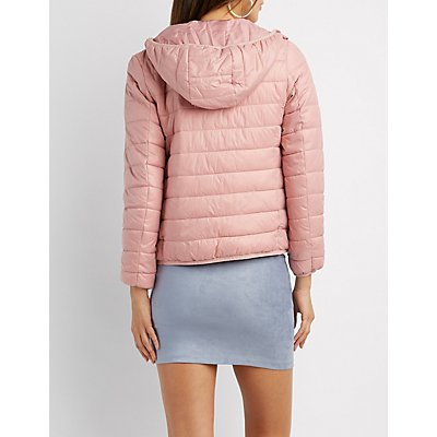 Hooded Quilted Puffer Jacket