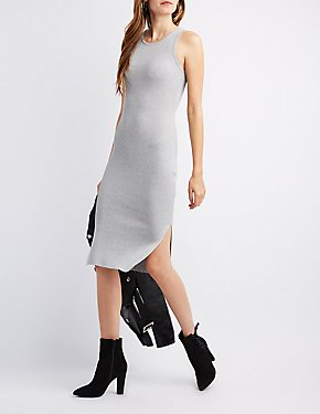 Ribbed Knit Midi Dress