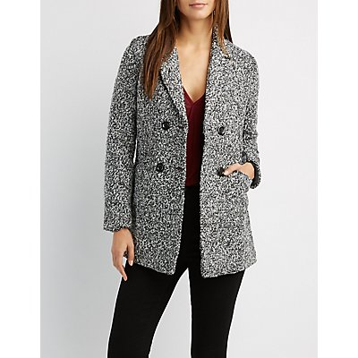 Double-Breasted Boucle Coat