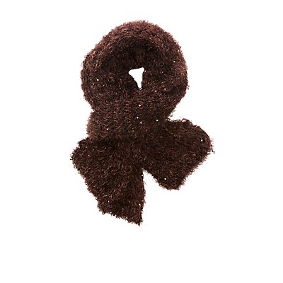 Fuzzy Knit Scarf at Charlotte Russe in Cypress, TX | Tuggl