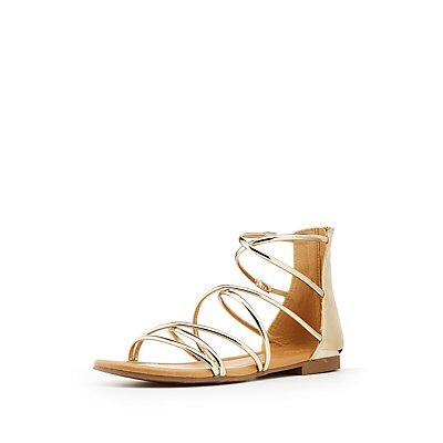 Metallic Gladiator Sandals