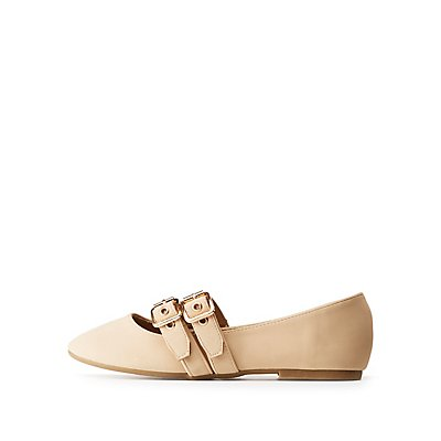 Bamboo Double Buckled Flats