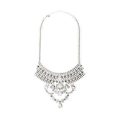 Crystal Chandalier Bib Necklace