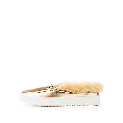Bamboo Faux Fur Lined Slip-On Sneakers