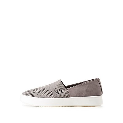 Bamboo Perforated Slip-On Sneakers
