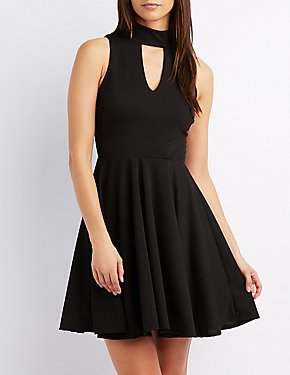 Cut-Out Skater Dress