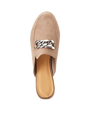 Bamboo Chain Loafer Mules