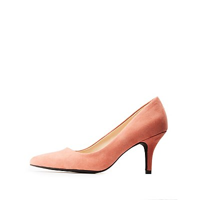 Qupid Pointed Toe Pumps
