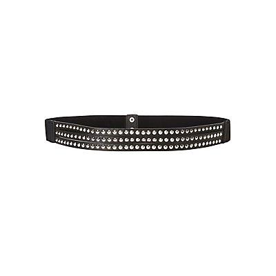 Plus Size Studded Waist Belt