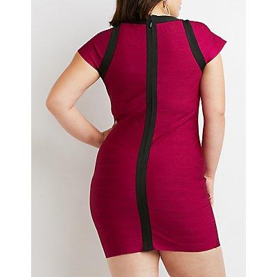 Plus Size Bandage Bodycon Dress