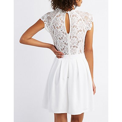 Crochet-Lace Skater Dress