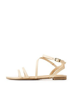 Bamboo Faux Leather Strappy Sandals