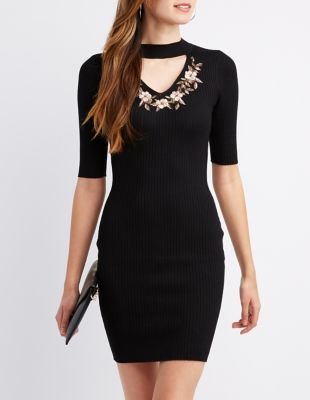 Black dress long sleeve lace 0 3