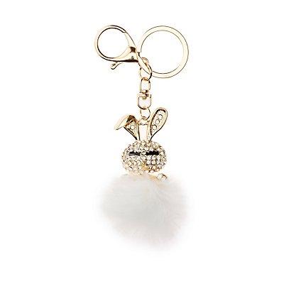 Embellished Bunny Keychain