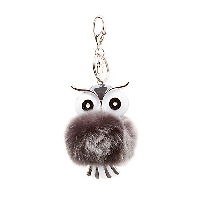 Faux Fur Owl Key Chain
