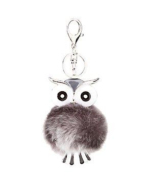 Faux Fur Owl Key Chain