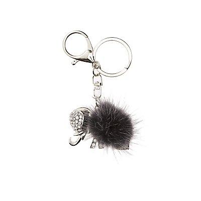 Embellished Elephant Keychain