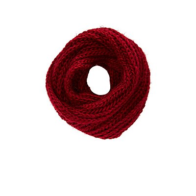 Eyelash Sweater Knit Infinity Scarf