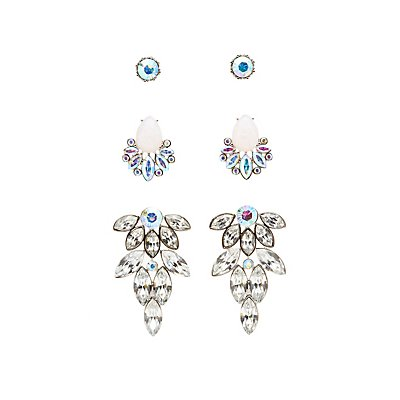 Embellished Stud & Statement Earrings - 3 Pack