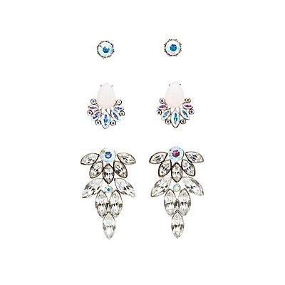Embellished Stud & Statement Earrings - 3 Pack
