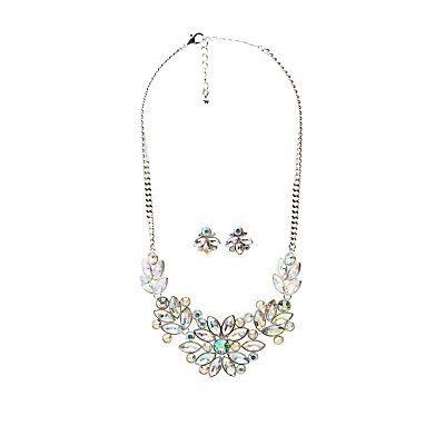 Stud Earrings & Necklace Set