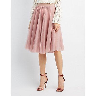 Tulle Full Midi Skirt