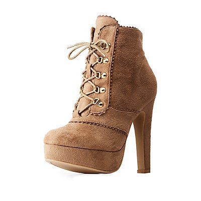 Lace-Up Platform Booties