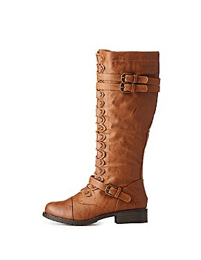 Buckle Mid-Length Combat Boots