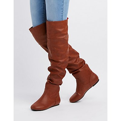 Ruched Over-The-Knee Boots