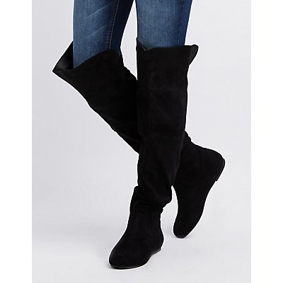 Ruched Over-The Knee Boots