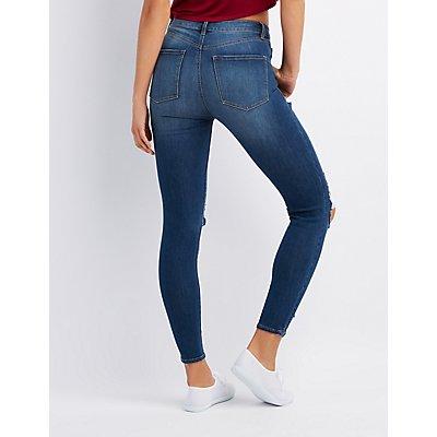 Refuge Destroyed Hi-Rise Legging Jeans