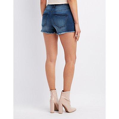 Refuge Destroyed Cut-Off Denim Shorts