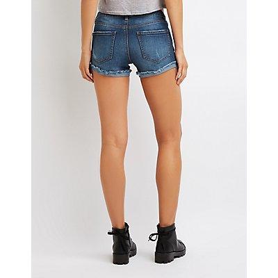 Refuge Mid-Rise Girlfriend Denim Shorts