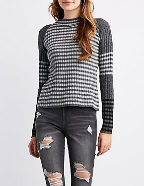 Striped Skater Stitch Sweater