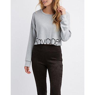 Savage Cropped Sweatshirt